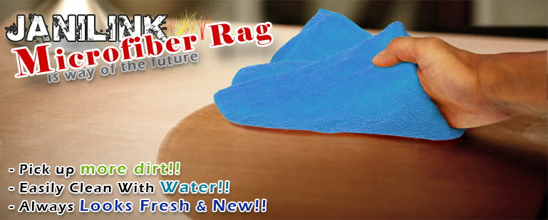 Janilink Microfiber rags - Blue