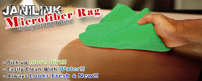 Janilink Microfiber rags - Green