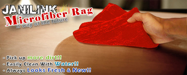 Janilink Microfiber rags - Red