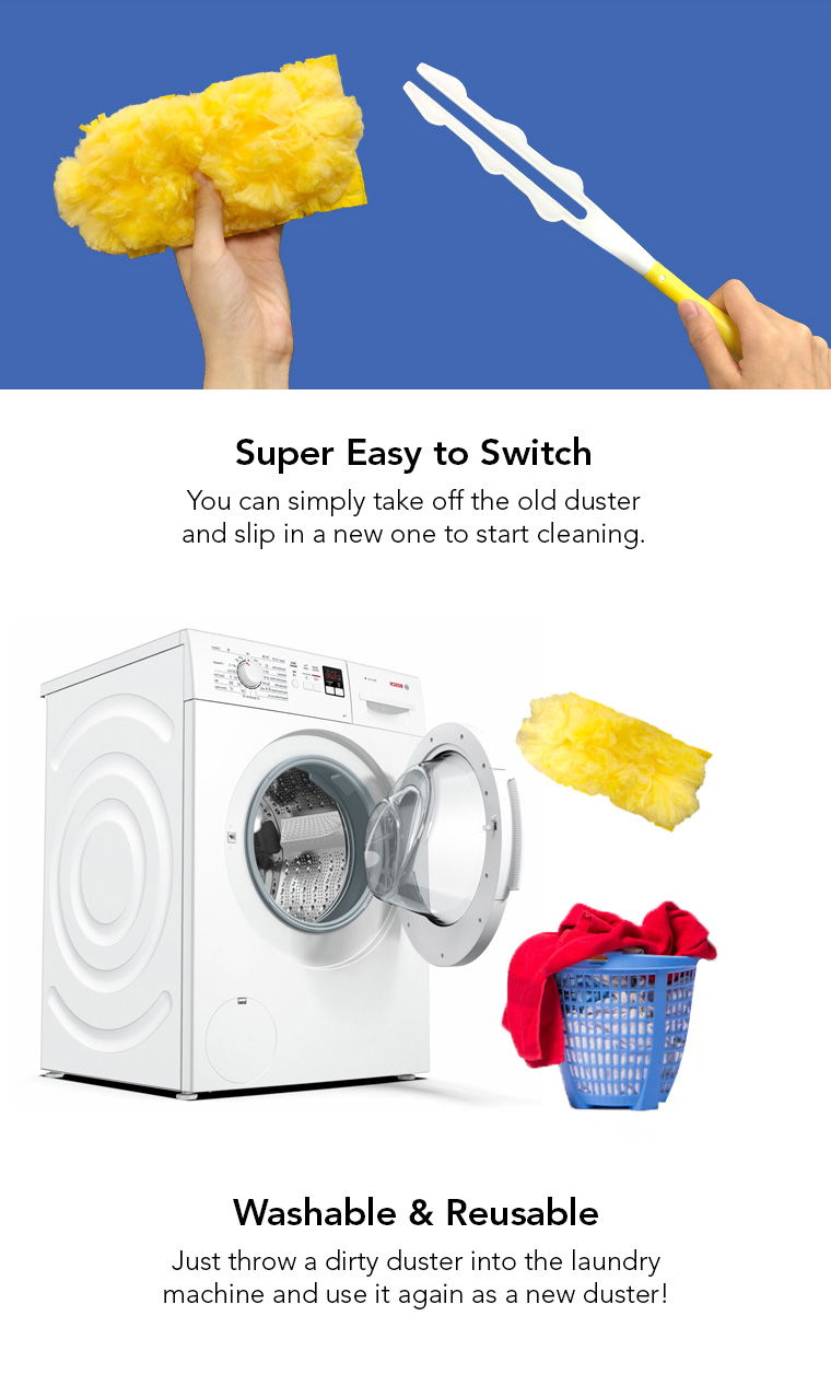 super easy to switch, washable, reusable.