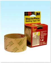 "3M Stay-in-Place Matting Tape 130 Smooth Floor 2"" x 10"""