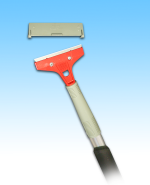 "2-way uses 4"" Hand Scrapper with extendable Aluminum Handle"
