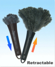 Retractable Duster Grey 16""