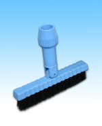 Brush w/ Swivel Blue 7.5""