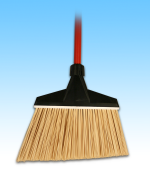 Plastic Angle Broom-Unflagged
