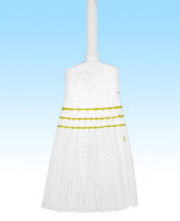 STRAIGHT MAID BROOM PLASTIC 53""