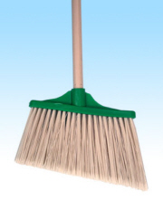 LARGE ANGLE BROOM PLASTIC GREEN 55""