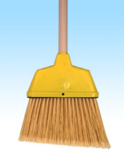 SMALL ANGLE BROOM PLASTIC 53""