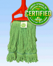 GREEN Clean Wide Band Looped Mop Large Green