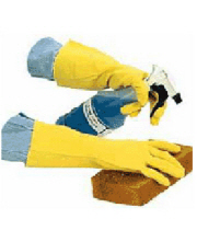 Flock-Lined Gloves Yellow (Small, Medium, Large) 12""