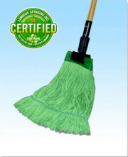 Earthkleen Wide Band Mop Large Cotton / Synthetic Green