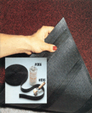 Velcro Mat Holder For Carpeted Floor