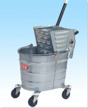 WHITE Bucket w/ Side Press Wringer Metal