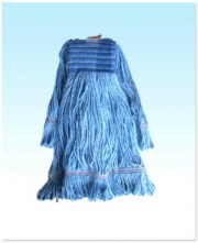 Wide Band Looped Mop Medium Rayon Blue
