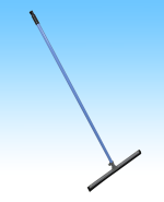 "18"" Floor squeegee & handle"