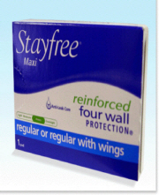 #4 STAY FREE MAXI PAD 250EA/CASE