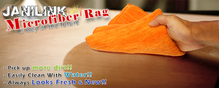 Janilink Microfiber rags - Orange
