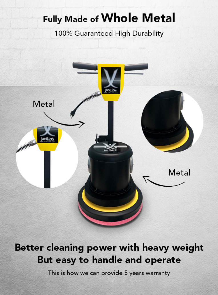 whole metal, high durability, cleaning power, heavy weight, easy to handle.