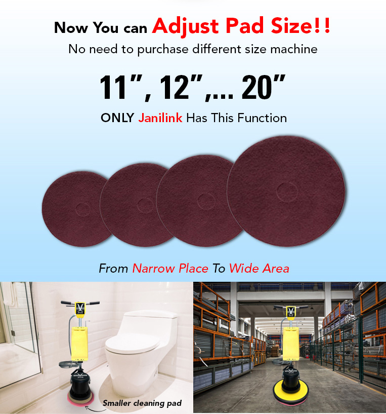 Adjust Pad Size, Narrow Place, Wide Area.
