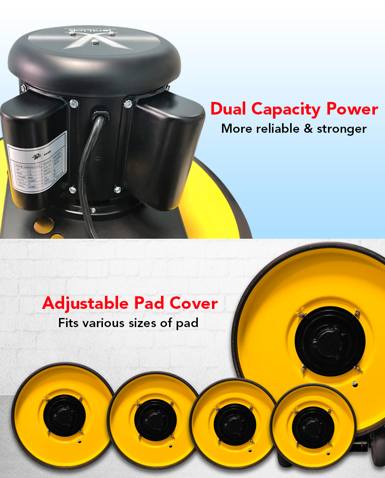 dual motor power, reliable, stronger, Adjustable Pad Cover, various sizes pad.