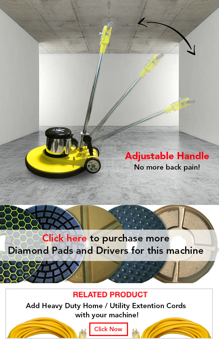 adjustable handle, diamond pads, drivers, heavy duty home, utility extention cords.
