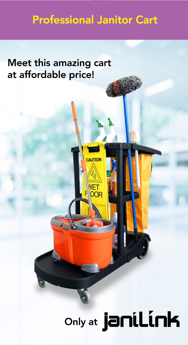 professional janitor cart, affordable price, janilink.