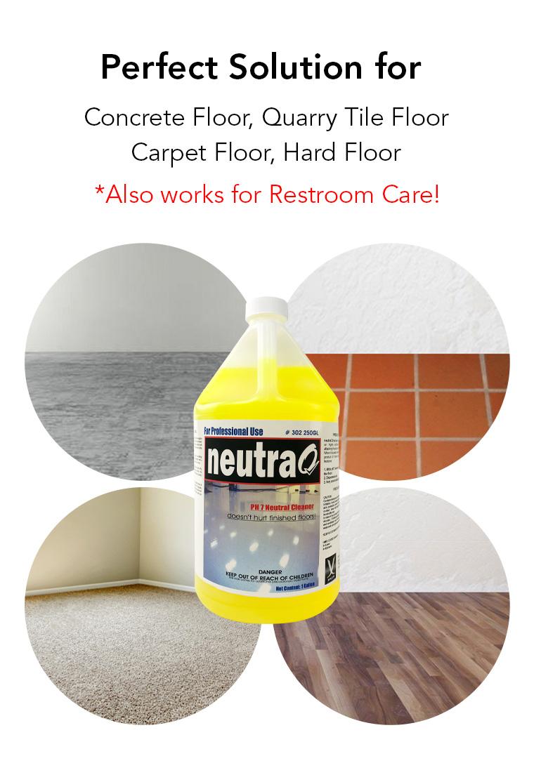 perfect solution for concrete floor, quarry tile floor, carpet floor, hard floor, restroom.