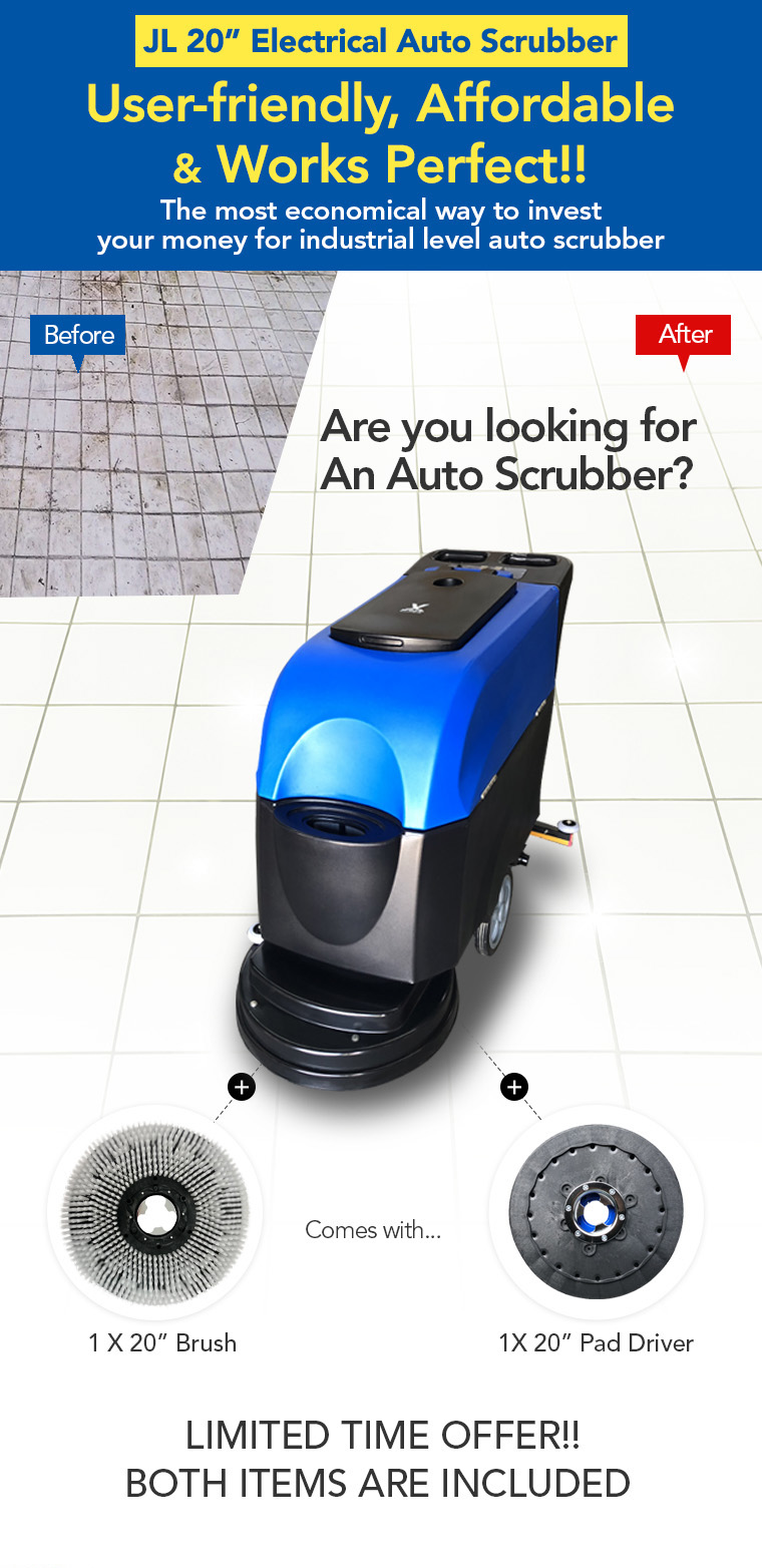 electrical auto scrubber, user-friendly, affordable, economical way, industrial level, bush, pad driver.