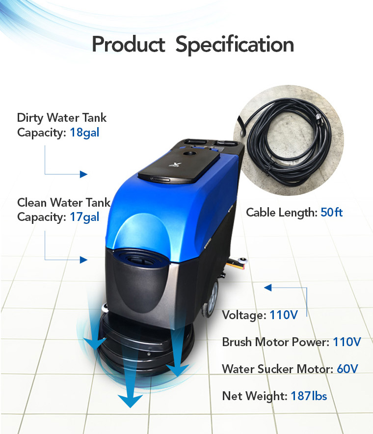 product specification, water tank, cable, brush motor power, water sucker motor.