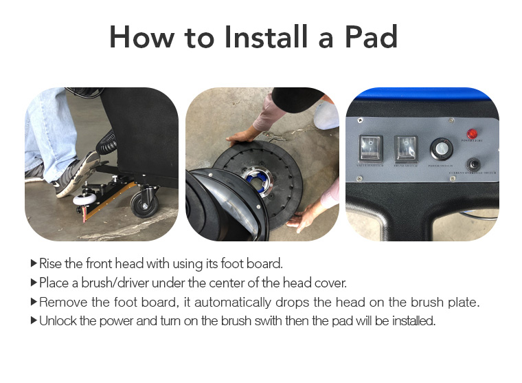 foot board, head cover, how to install a pad.