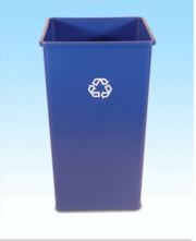 Square Recycling Container 50 GAL