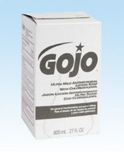 GOJO ULTRA MILD Anti-Microbial Lotion Soap w/ CHLOROXYLENOL Refill W/O Dispenser 2000 ML
