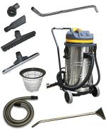 JL Wet/dry vacuum with 2 motors Yellow 21 GAL