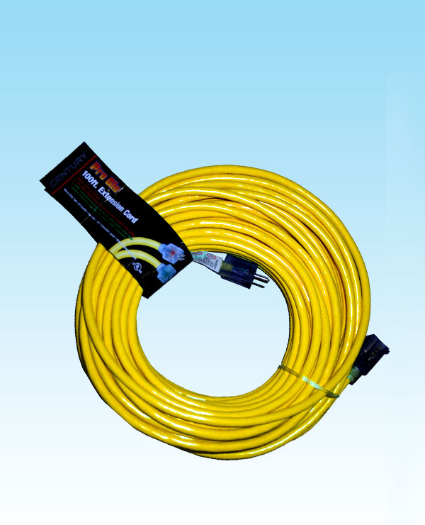 100 Extension Cord 14 3 Pro Glo Yellow