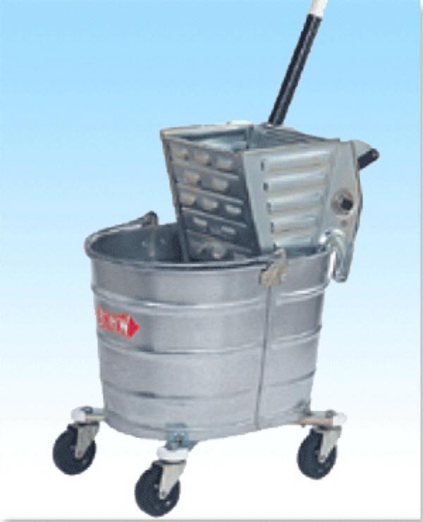 Metal Side Mop Bucket W/Ringer Combo (WHITE).